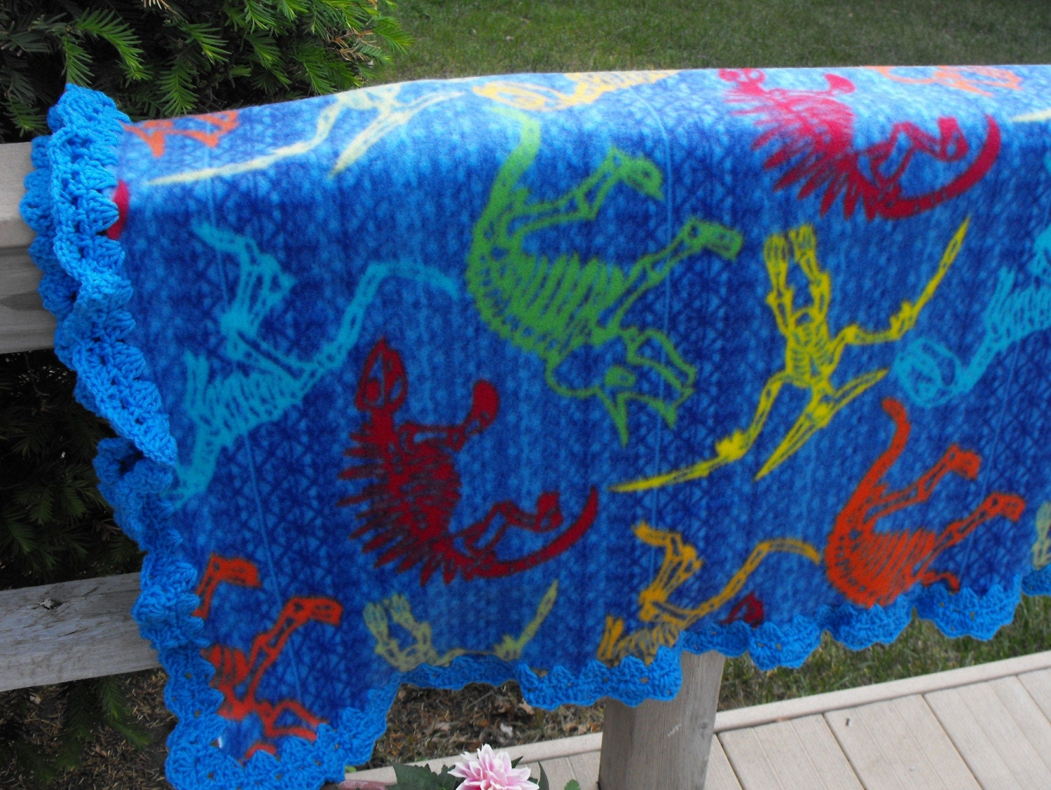 Ravelry: Cammo Fleece Blanket with Crocheted Edge pattern