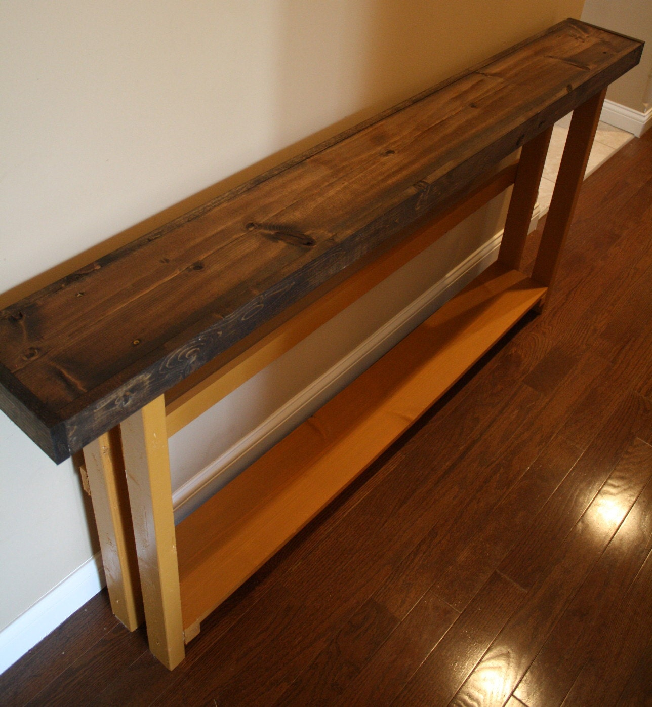 Dark walnut stained olympic all spice by uniqueprimtiques for 70 inch console table