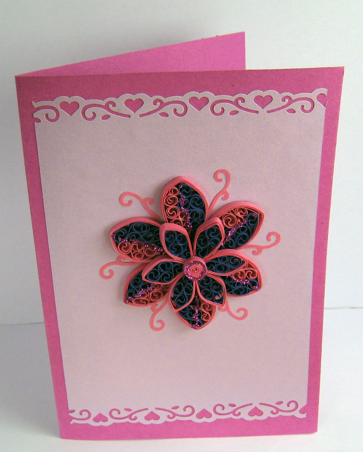 Paper Birthday Quilling Card - Handmade Greeting Card - Mother's Day ...