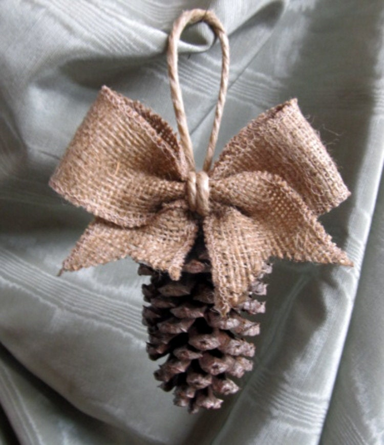 Pinecone Tassel Ornament - PineconeShoppe Etsy Shop