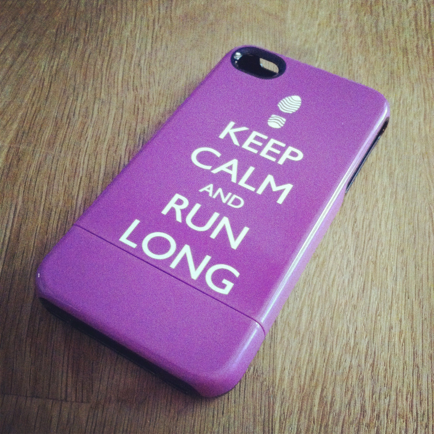 Keep Calm and Run Long iPhone Tough Case 4 / 4S or 3G - Personalized iPhone Case - original design by a drop of golden sun