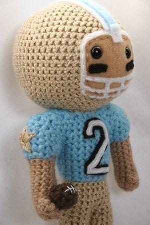 Crochet Pattern- Football Star amigurumi football player