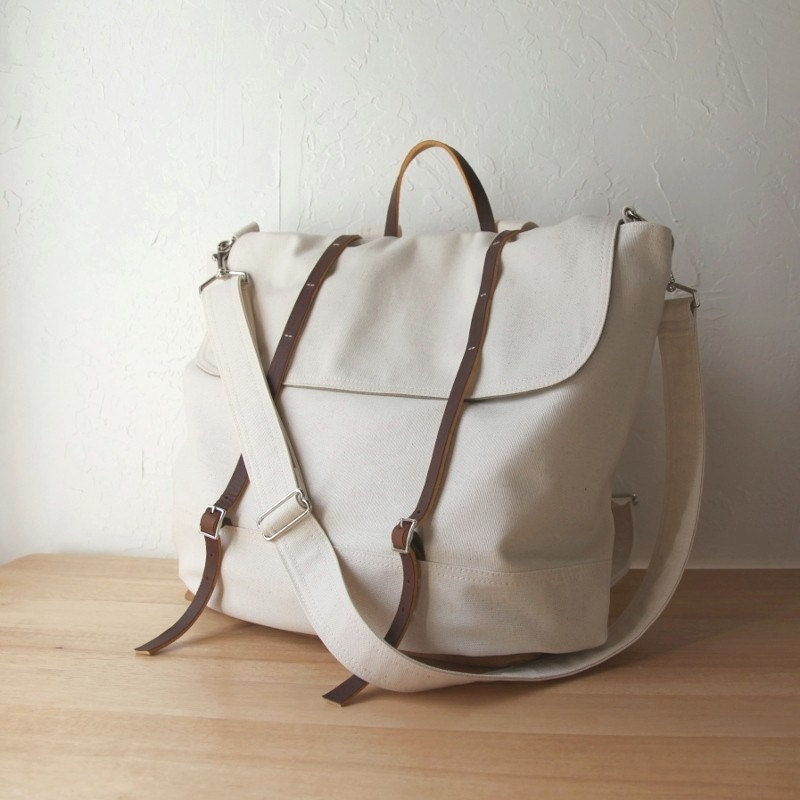Organic Natural Canvas Rucksack