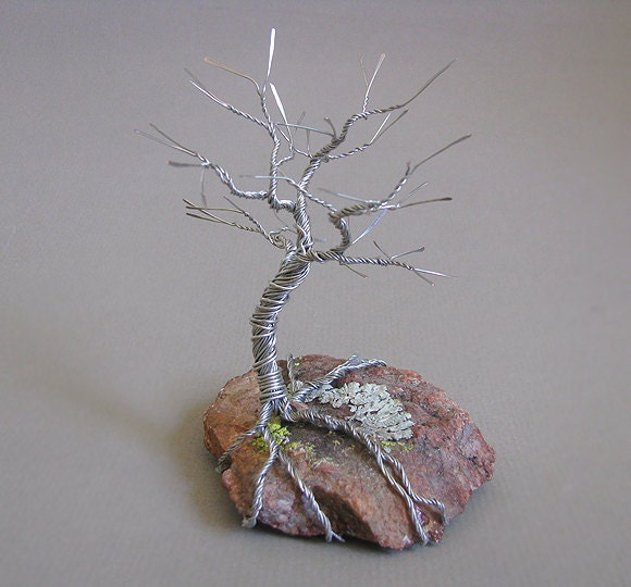 This Sleeping Tree Wire Sculpture Was Made With Silvertone I Twisted And Hammered Each End Then Shaped Whole My Hands