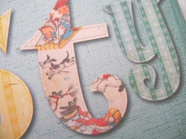 Large Letter Die Cuts Large Christmas Vintage Image Die Cut Letters By