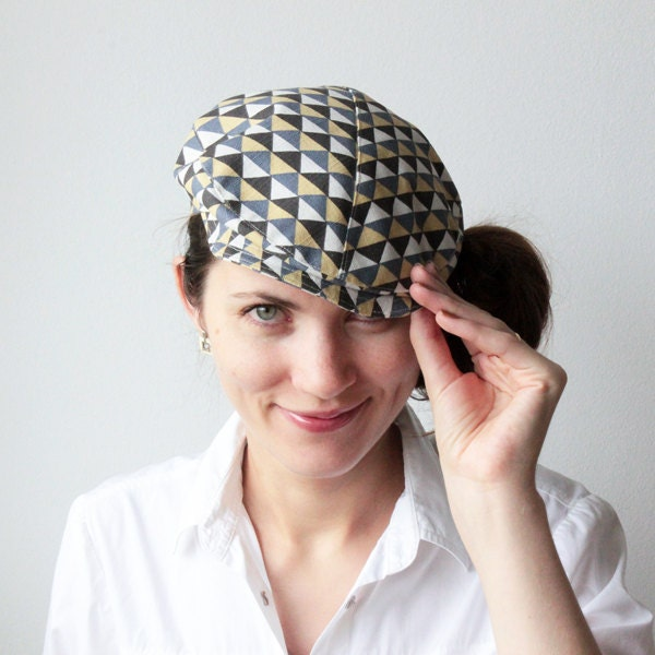 Flat cap - Newsboy hat - Retro print - Unisex -  Spring and Summer fashion - Casual chic - Travel - GalaBorn