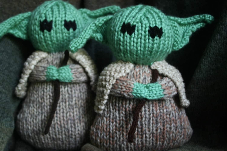 Knitting Pattern For Yoda : Hand Knit Yoda soft stuffed toy doll by forthetiny on Etsy