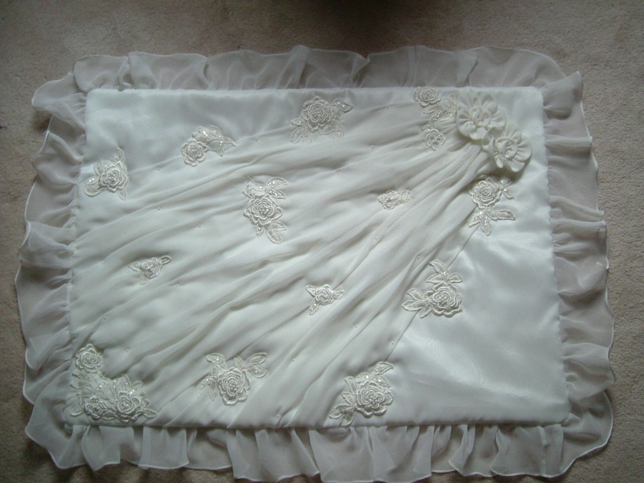 quilt from wedding dress