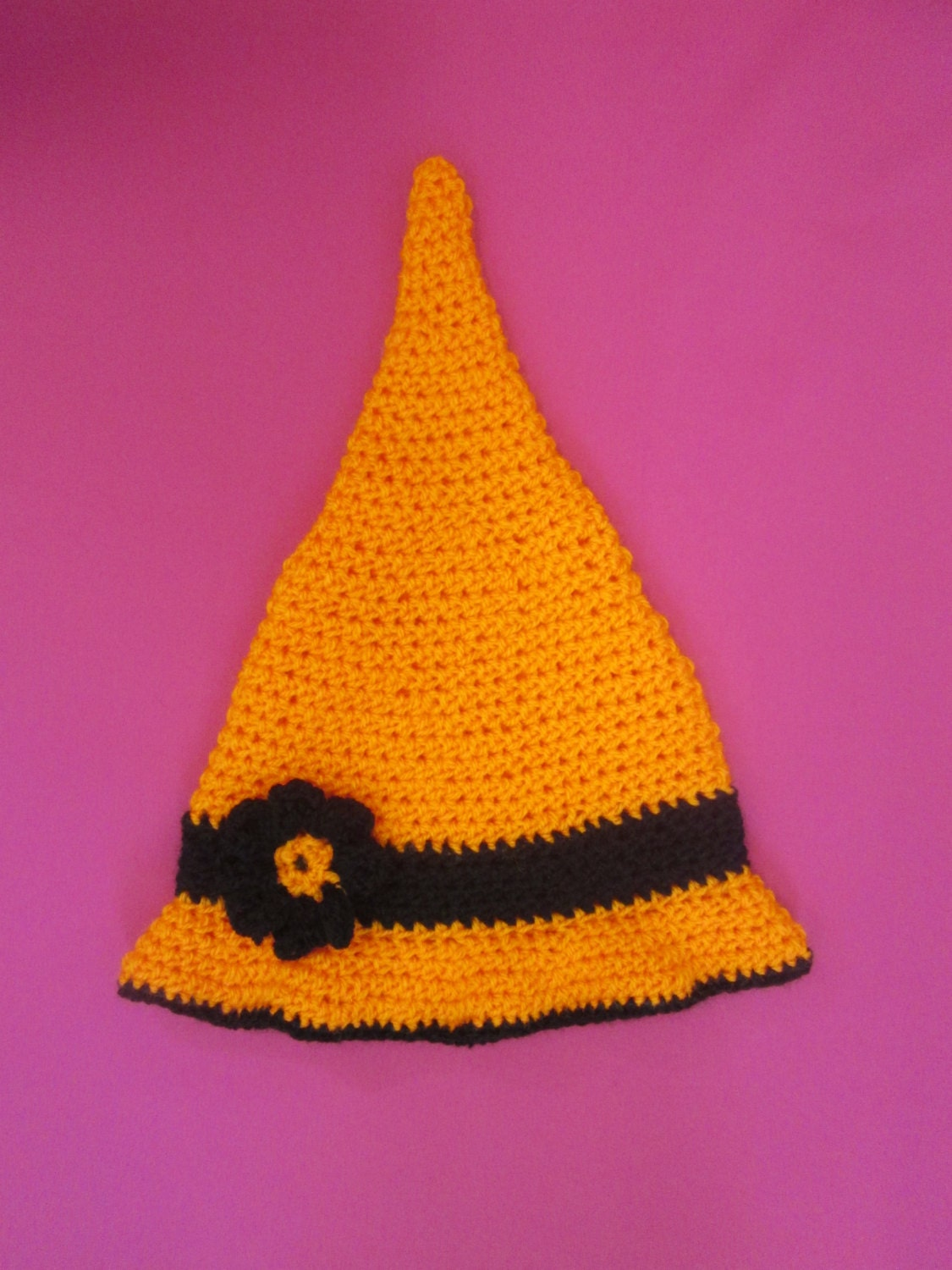 Toddler Witch Handmade Crocheted Hat Toddler Photography Prop Halloween Hat