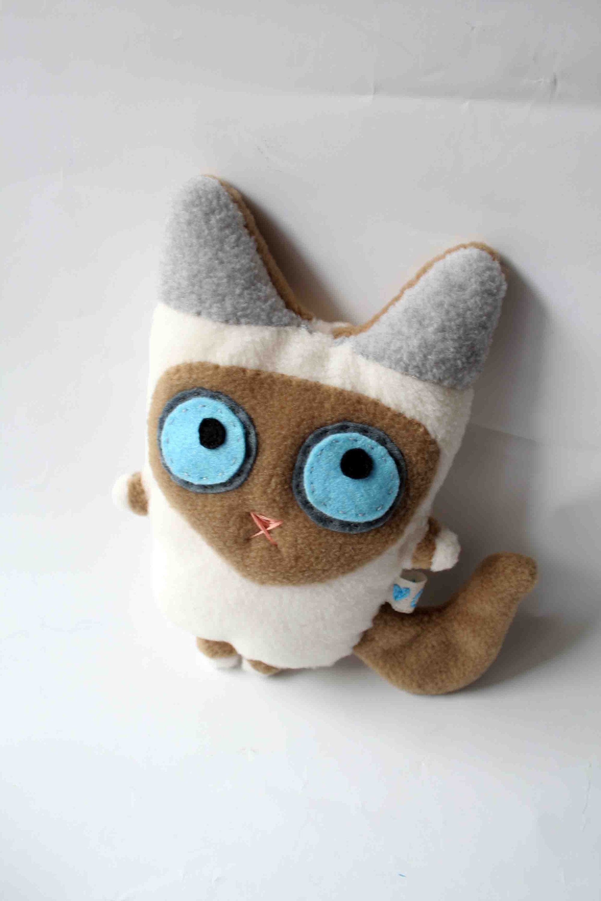 Squishy Nose Cat : Red point Birman or Mitted Ragdoll cat by hamster on Etsy