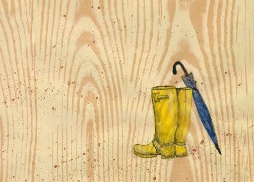 Art Print- Rain Boots - 5x7