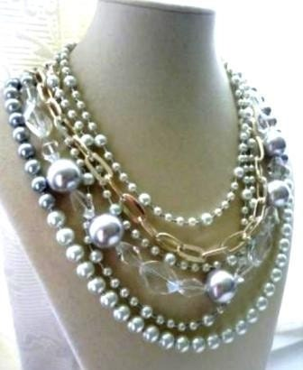 Velouria - crystal, pearl, and silver necklace - holiday sale