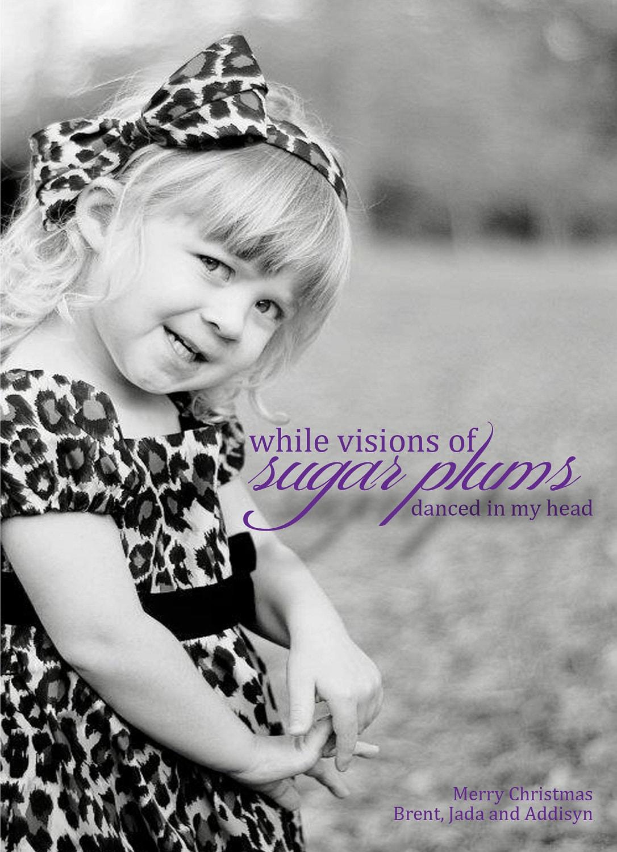 Photo Christmas Card - Visions of Sugar Plums - SavCreations