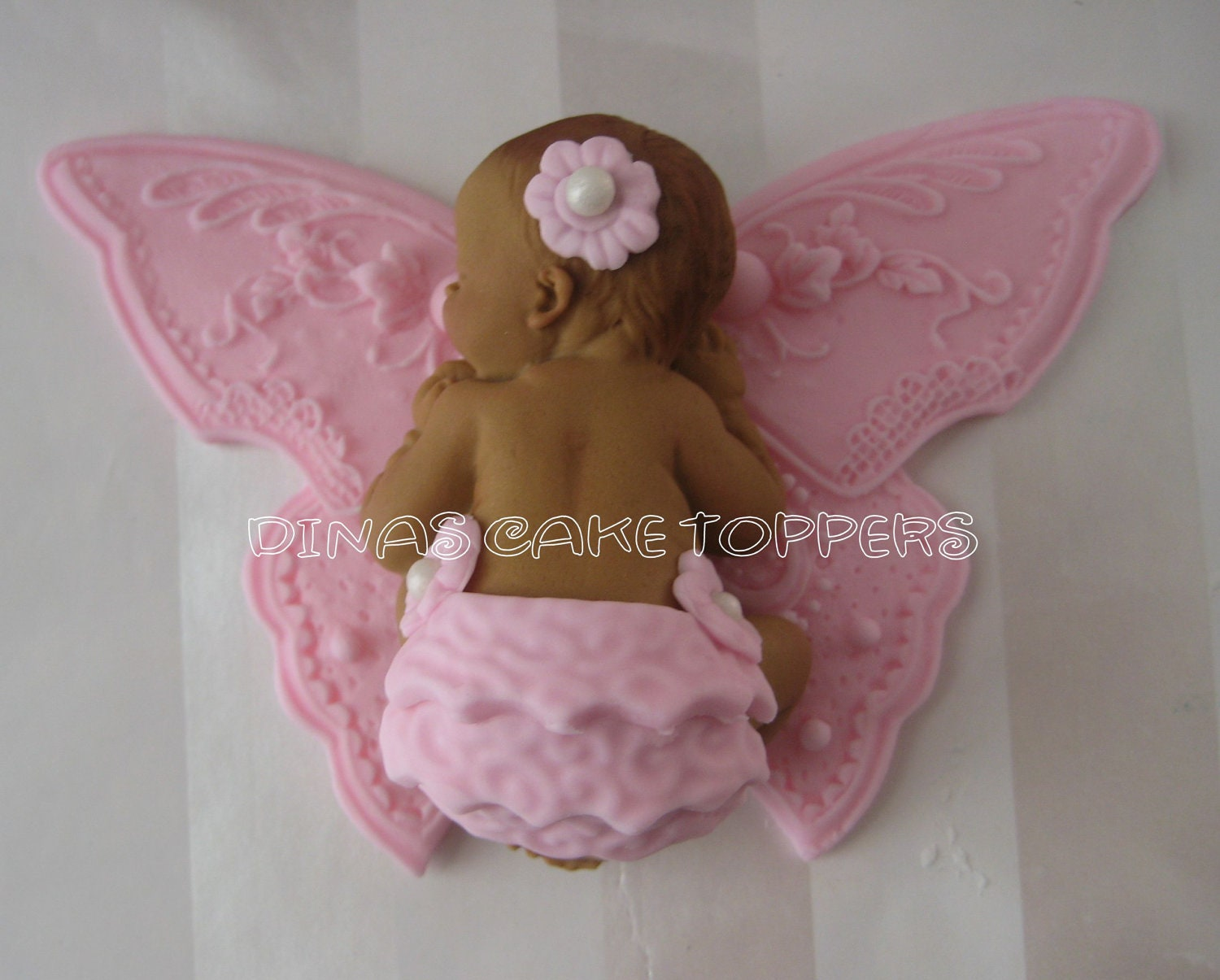 BUTTERFLY Cake Topper Baby Shower First Birthday FONDANT Baptism ...