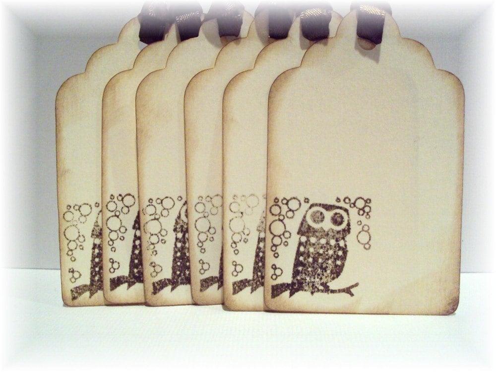 Vintage Owl TAGS