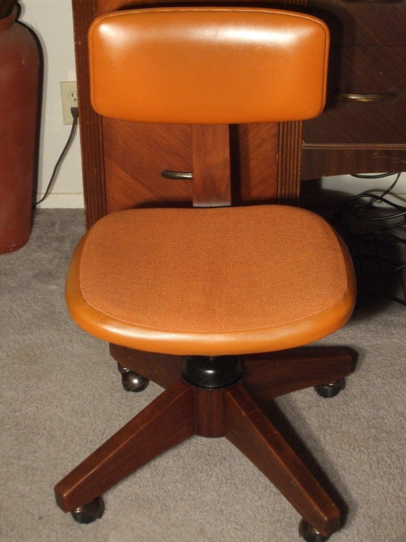 1970 s Era Burnt Orange fice Chair by UmanThings on Etsy