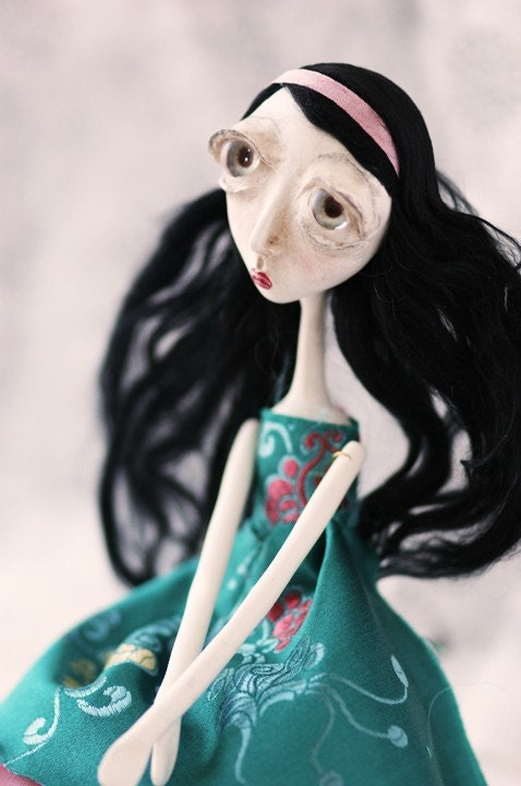 Brocade Alice - Alice in Wonderland Art Doll