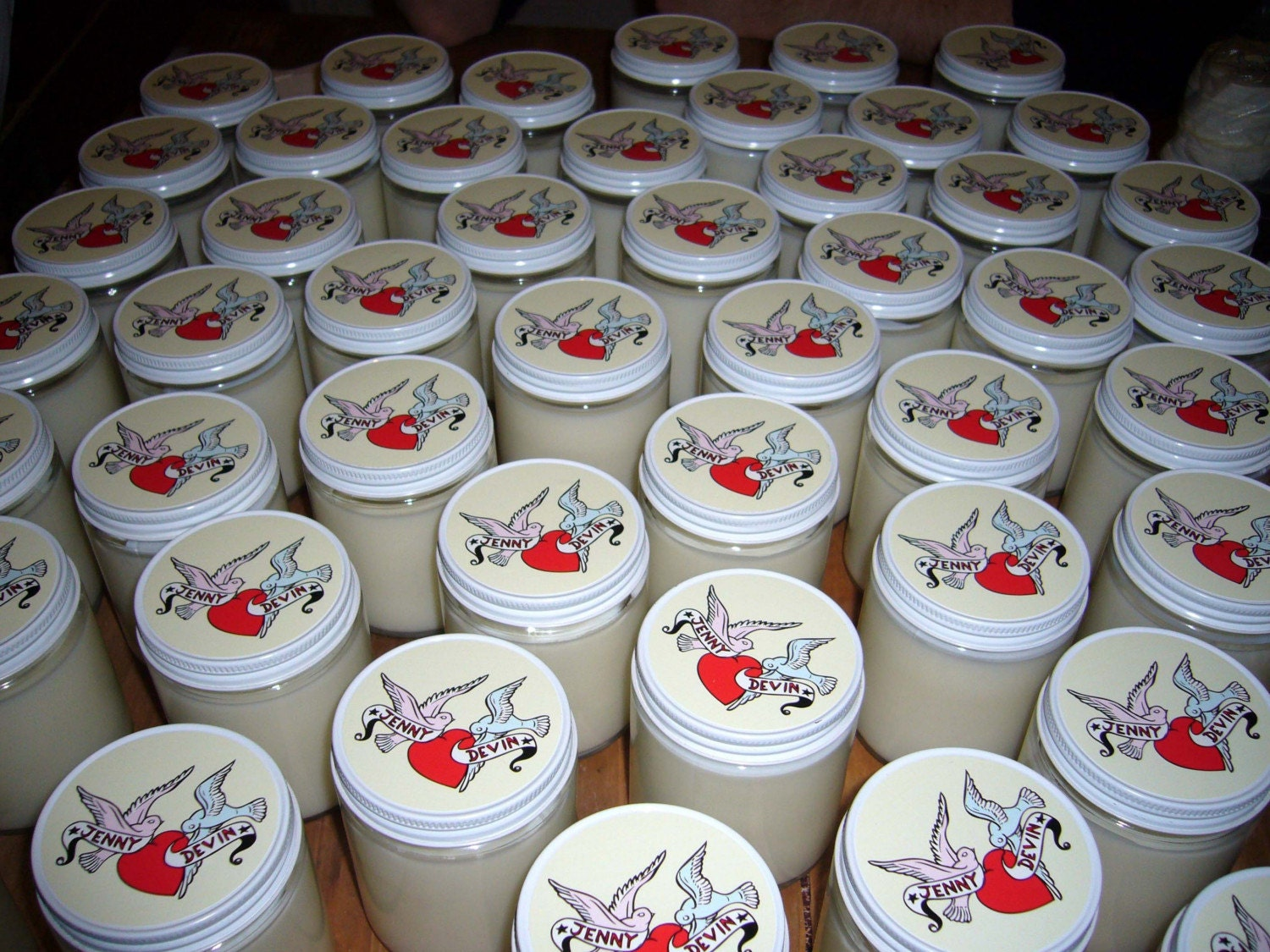 Custom Soy Wedding Candles