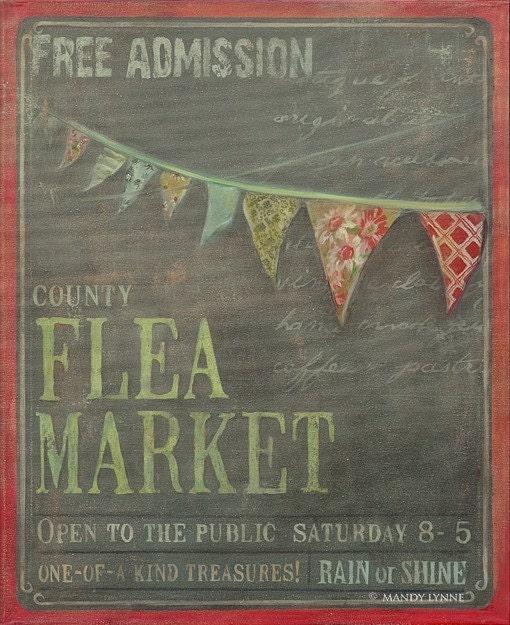 Flea Market  20x24