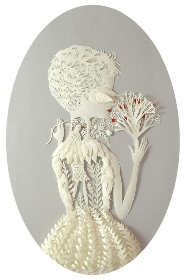 Reserved for heather.   OOAK Acid-Free Paper Bas-Relief. Hand cut ready to hang with antique frame.