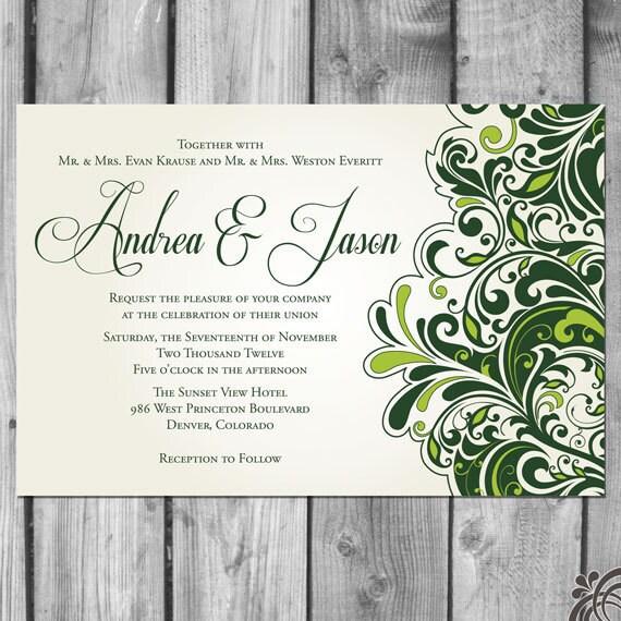 Flourish Wedding Invitation Set From ChristinaElizabethD