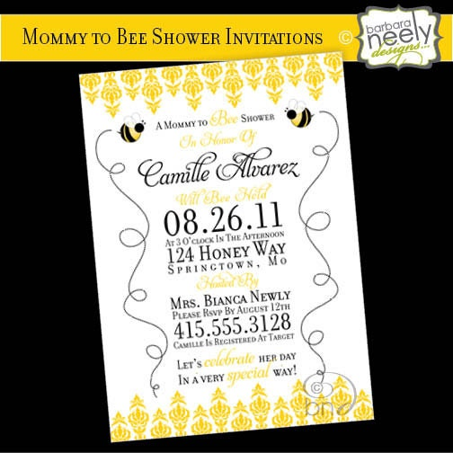 Bee Invitations Baby Shower as luxury invitation example