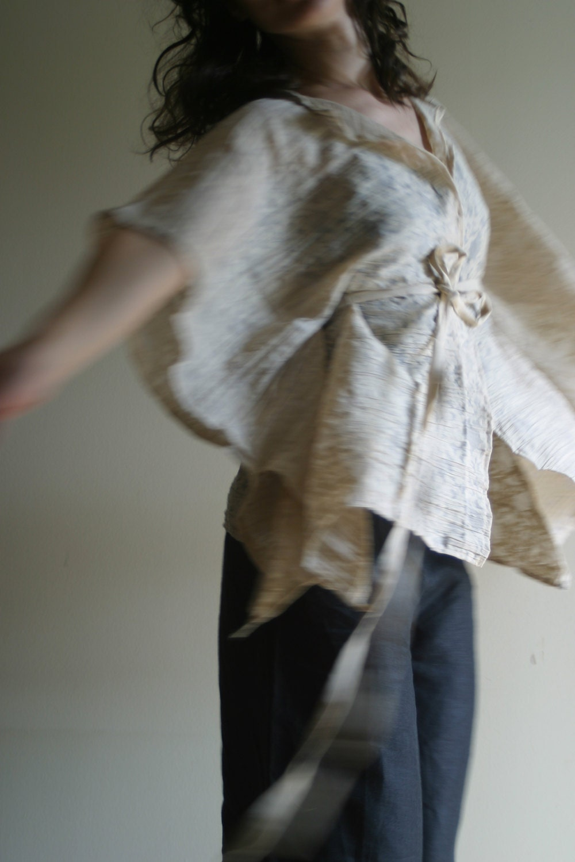Kimono Sleeve Sheer Blouse by NervousWardrobe on Etsy