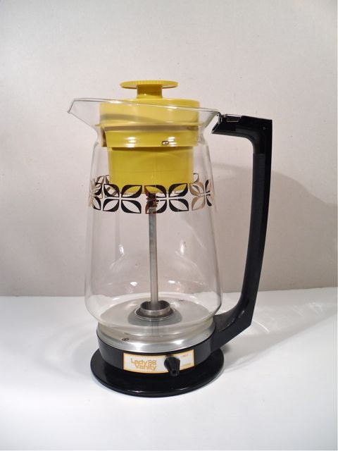 Retro glass percolator coffee pot working 12 cup by perfectpatina