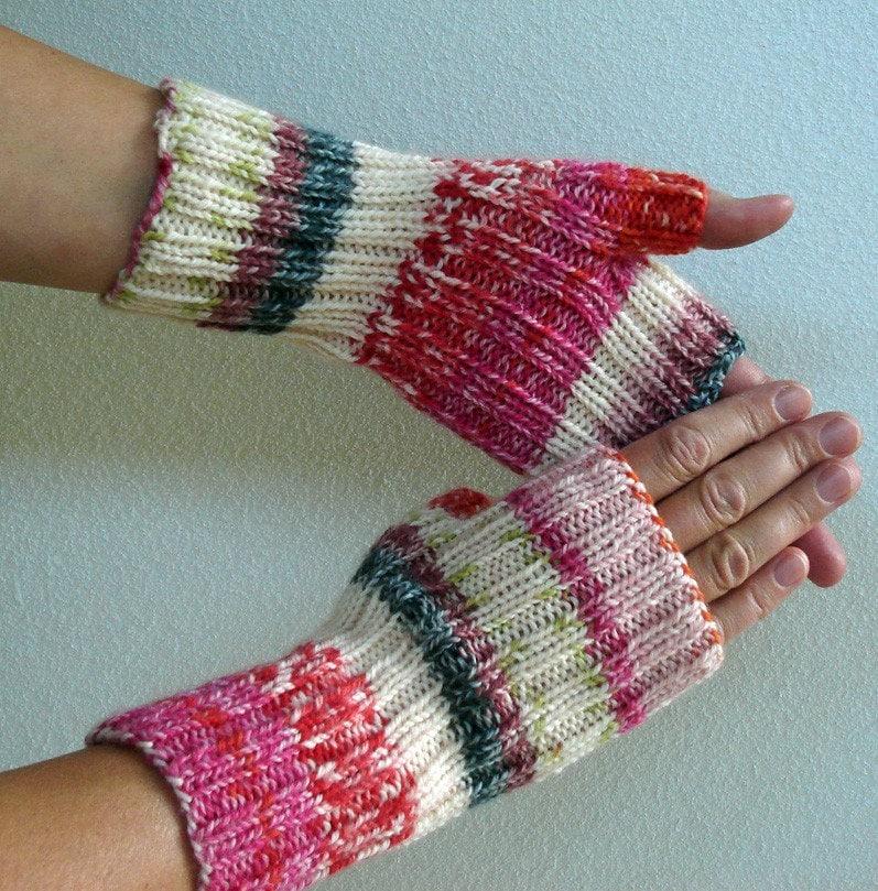 Knitting PATTERN - Fingerless Gloves - HandmadeHandsome