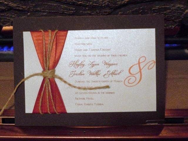 Rustic Country Wedding Invitations SAMPLE