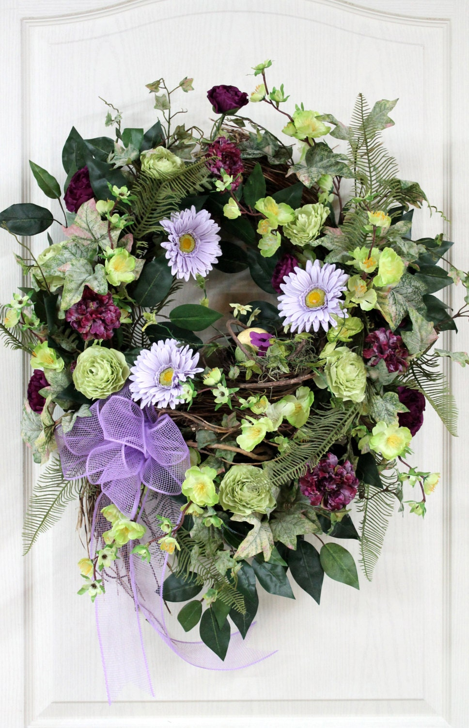 Items Similar To Easter Front Door Wreath Spring Wreath