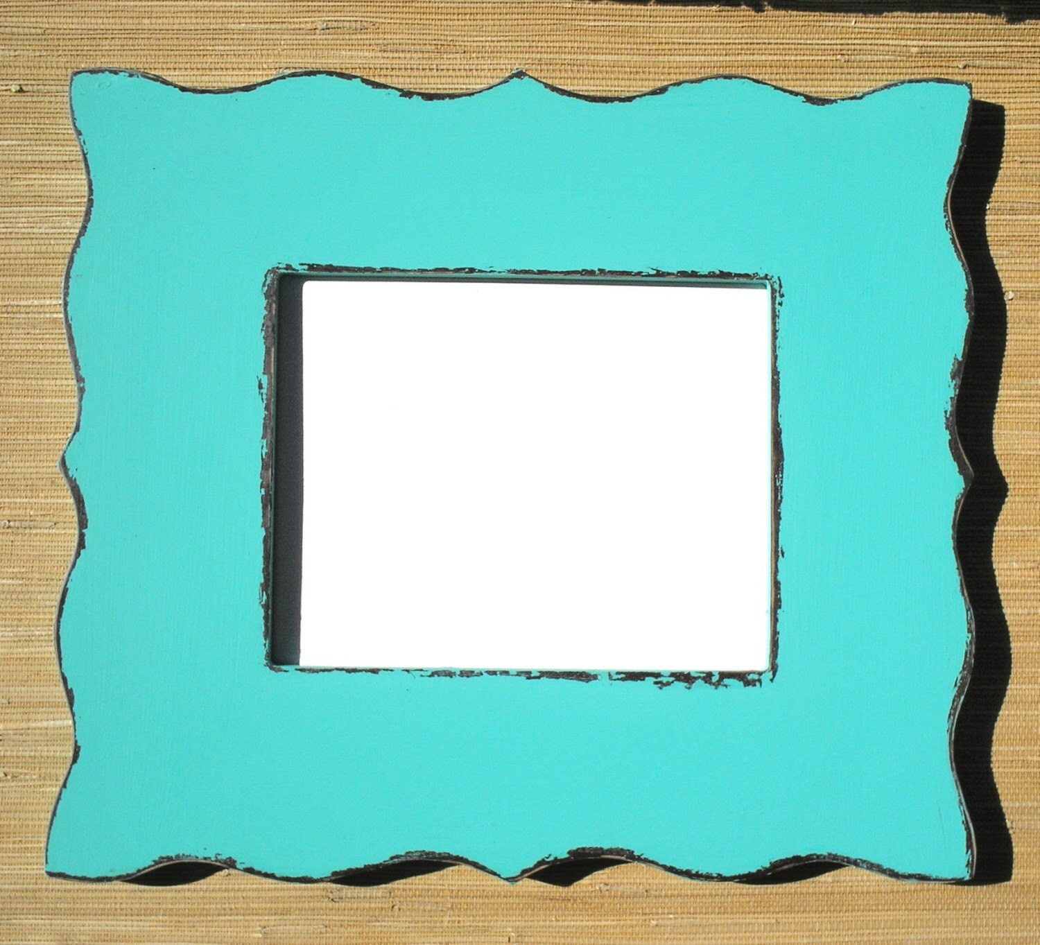 Whimsical Chipped Shabby Wide Picture Frame 8x8 OR 8x10 OR 8.5x11 with scrolled edge (Choose Color) Available in ANY size