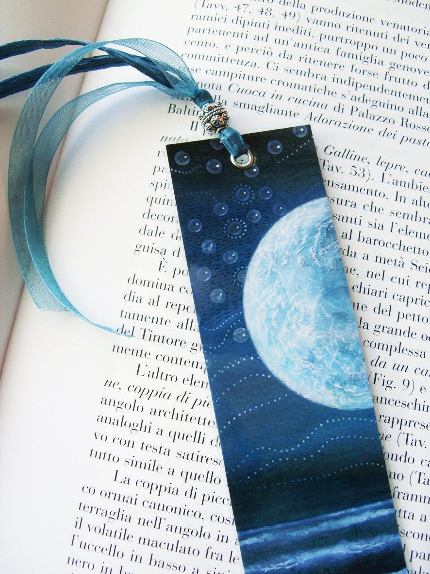 Monaco Blue Bookmark - laminated paper goods, Moonlight