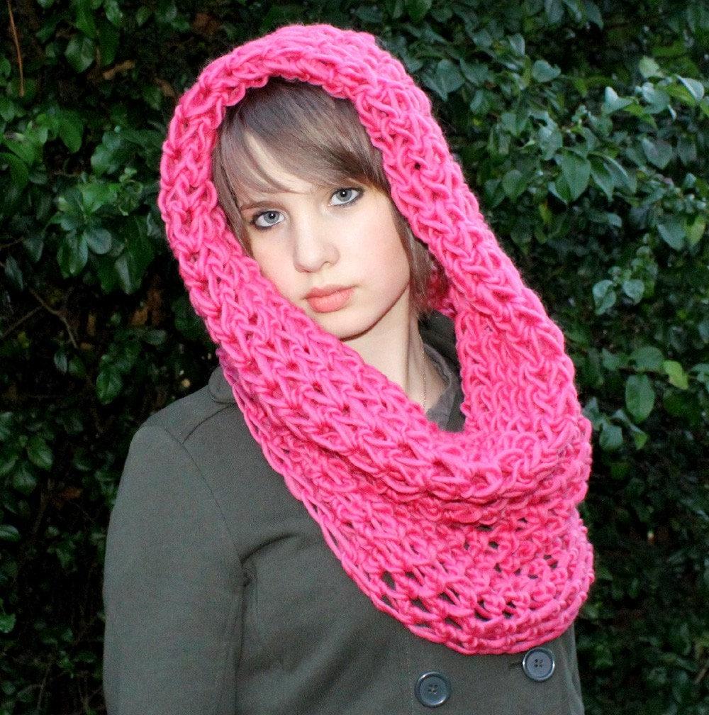 شال گردن دخترانه قلاب بافی