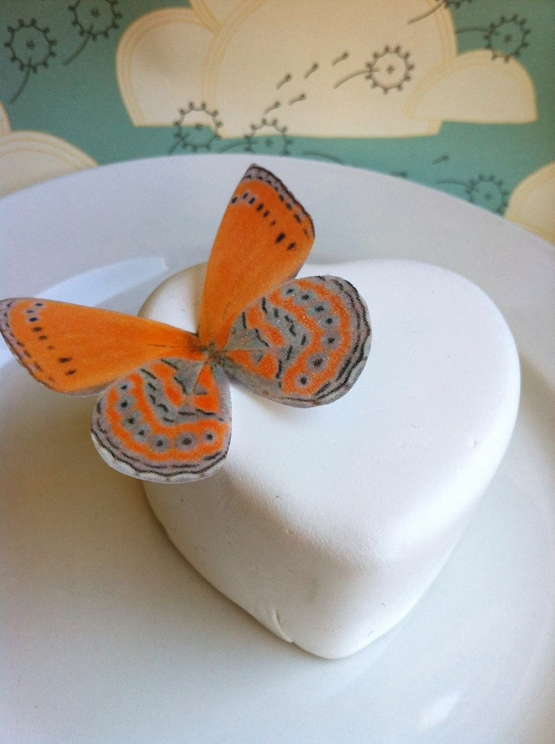 Edible Butterfllies - Bright Orange