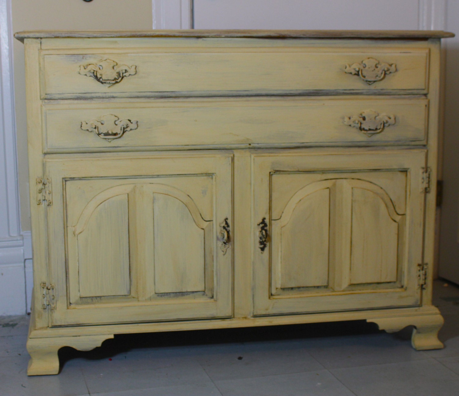 Items Similar To Sold Painted Furniture Vintage Buffet On Etsy