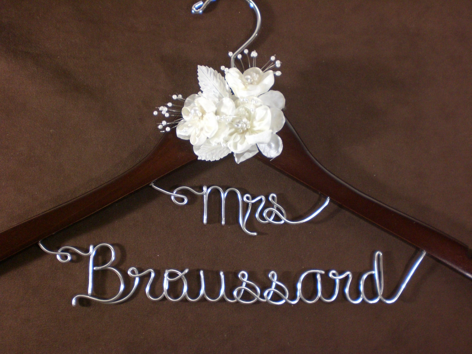 Unavailable listing on etsy for Wedding dress personalized hanger