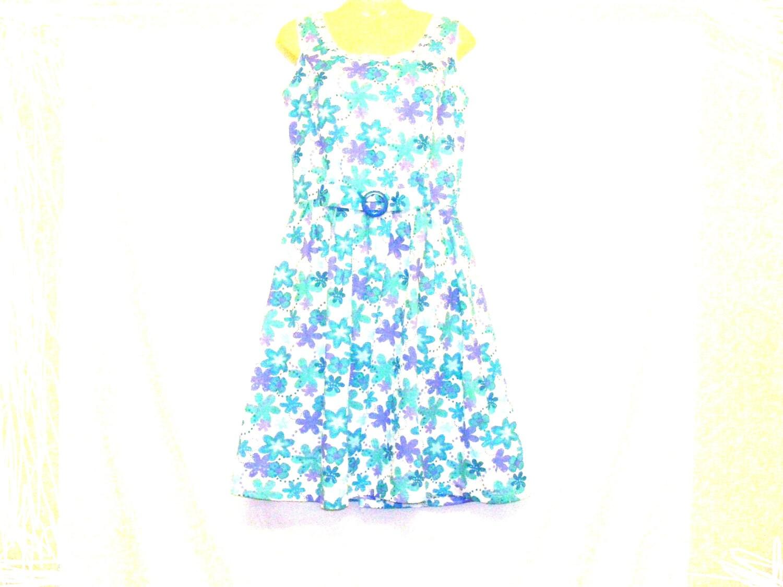 Circle Dress Tea Dress Womens Dress Swing Dress Floral Dress Size 10 Size 8 By Rebeccas Clothes
