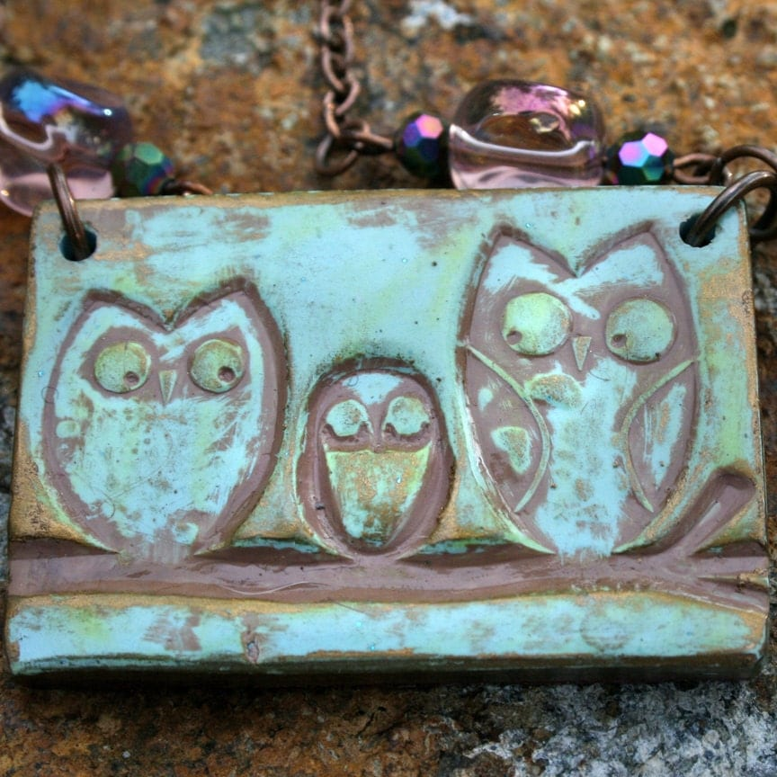 Little Owl Family Necklace