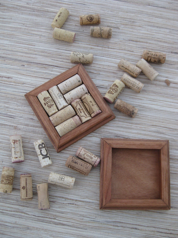 Rustic brown wine cork coasters diy craft set of by for Diy rustic coasters
