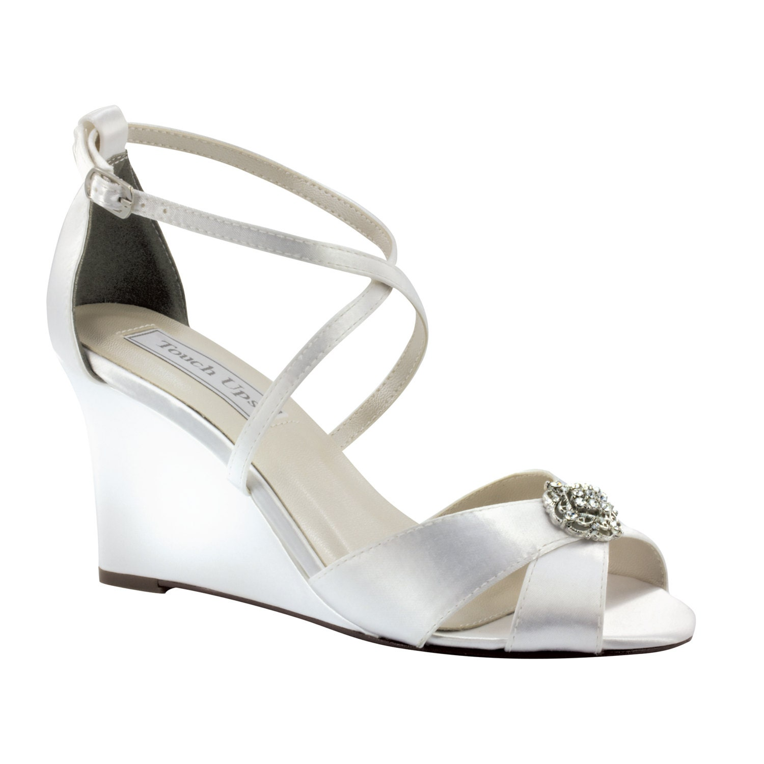 wedding shoes 3 inch wedge custom shoes for by
