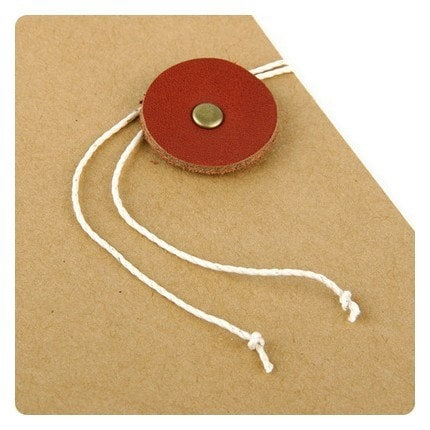 button and string - brown handy note
