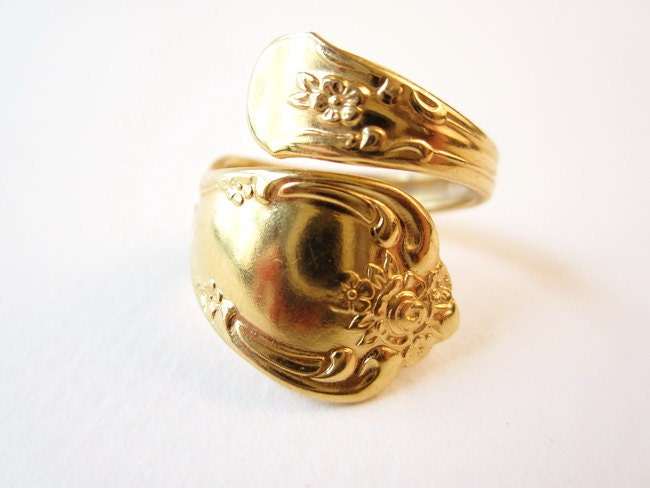 vintage oneida spoon ring size 6 1 2 wm by
