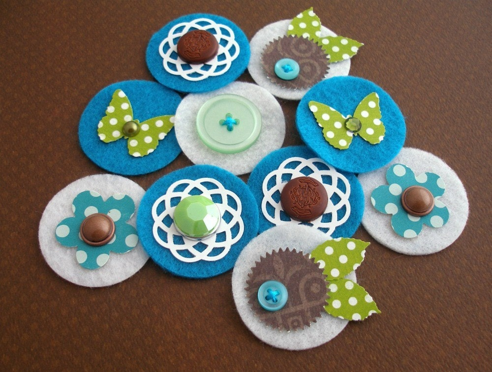 A Walk in the Woods - Sweet Spots - Paper and Felt Embellishments