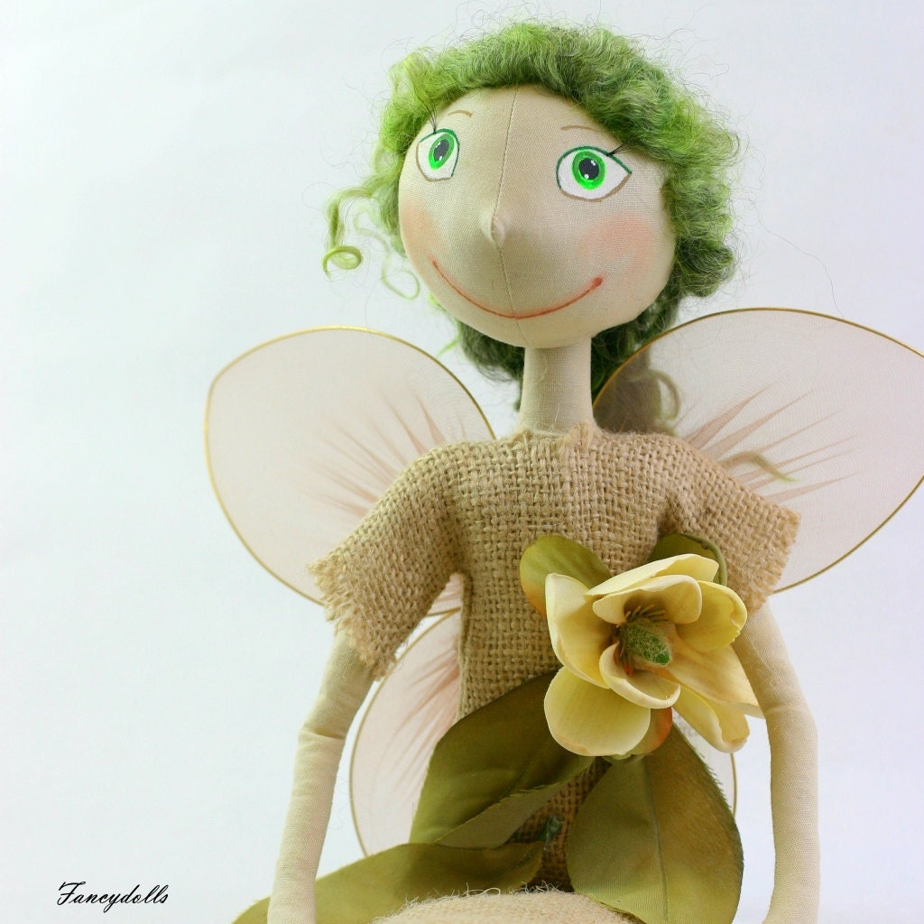 Cloth Doll Fairy Fly - gift for St. Patrick's day