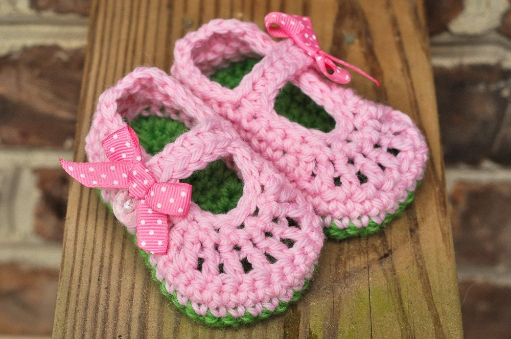Cotton Baby Ribbon Mary Janes available in any color