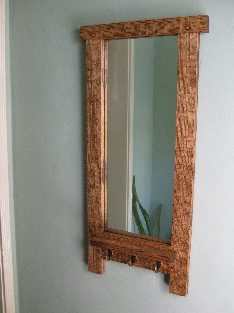 Mission arts and crafts entry mirror by kevinblakedesigns