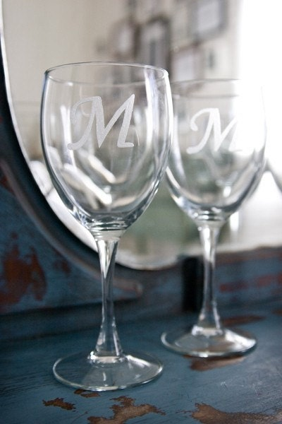 50 Wedding or Shower Wine Glass Favors/Placecards