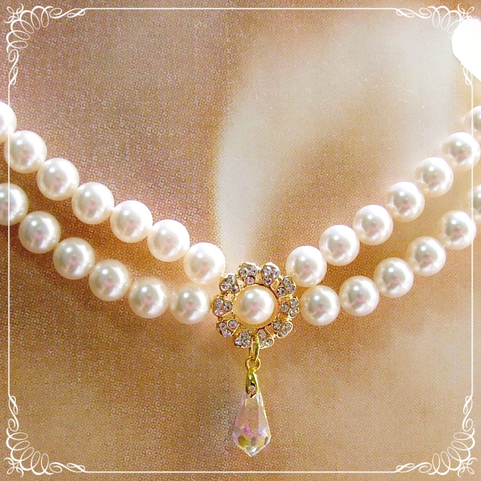 Flora Pearl Necklace - Luxury Collection