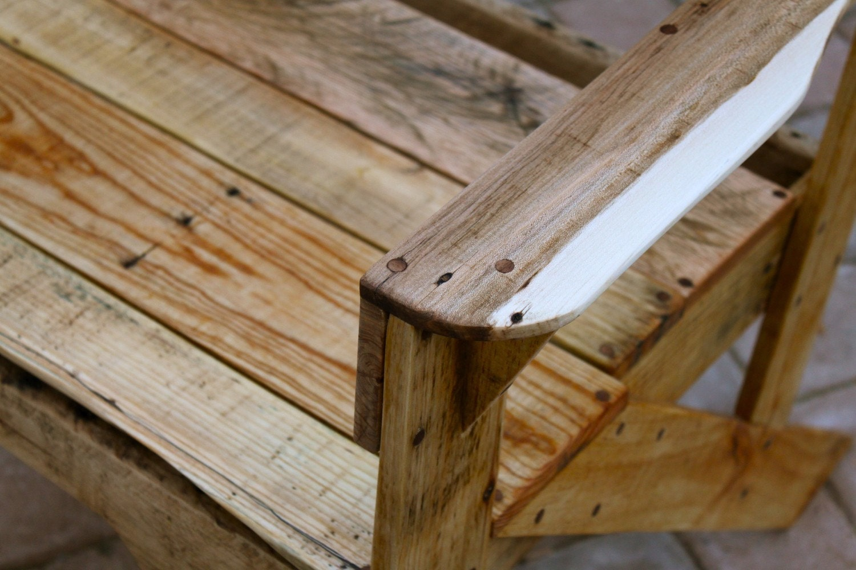 Pallet rústica silla de madera